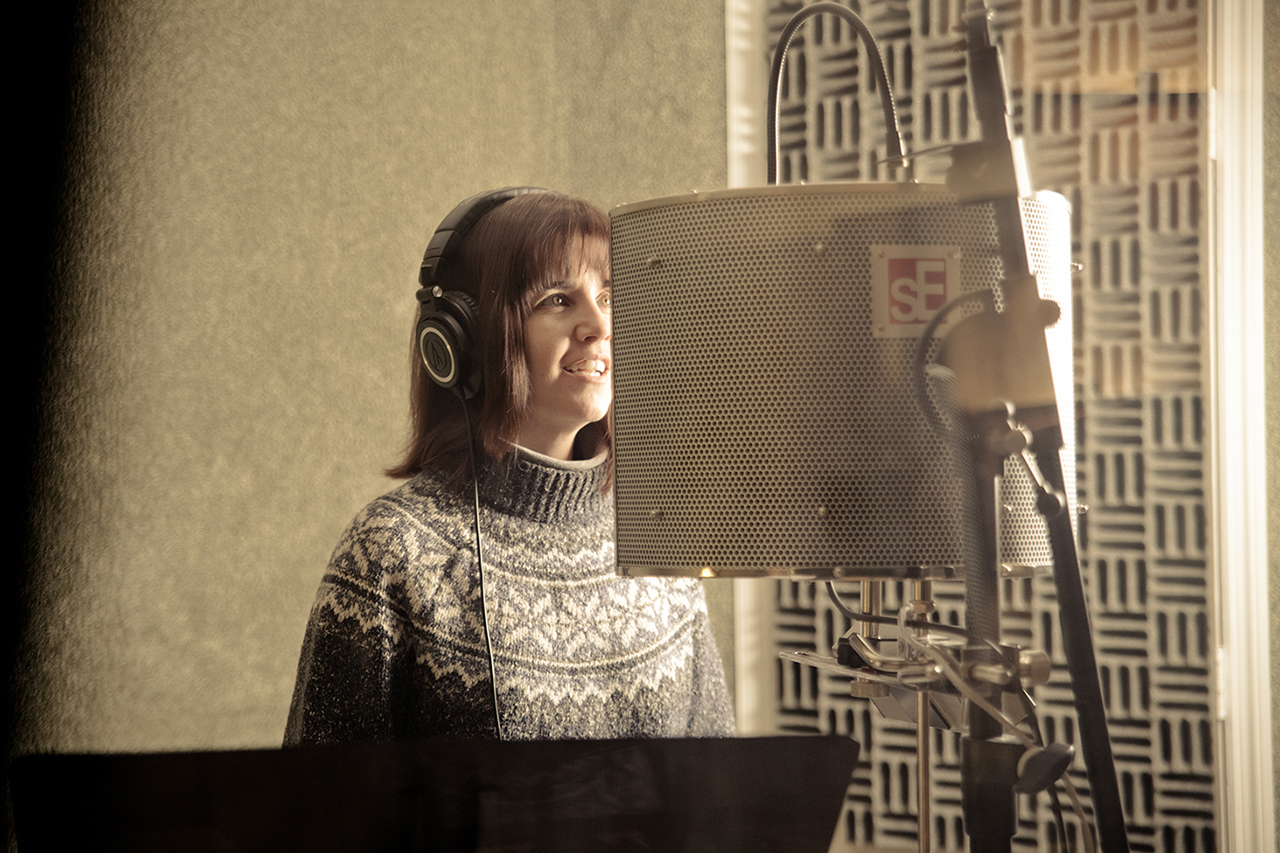 Debra Lyn Recording Vocals