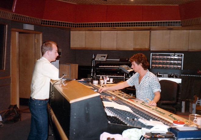 Bill Drescher at the board, AIR Studios, London