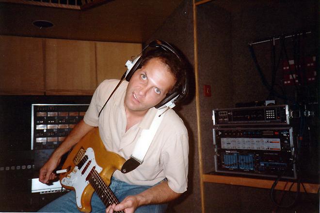 Jeff goofing around - AIR Studios, London