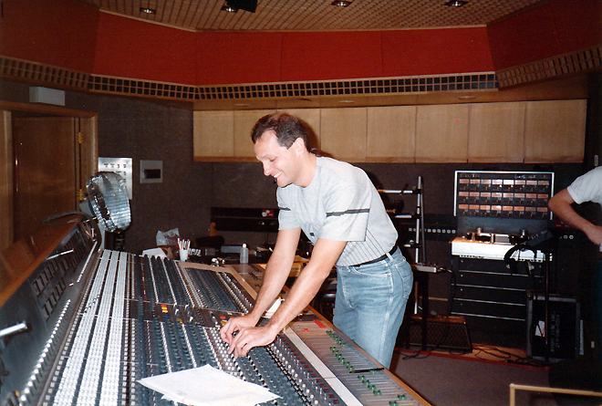 Jeff at the board, AIR Studios, London