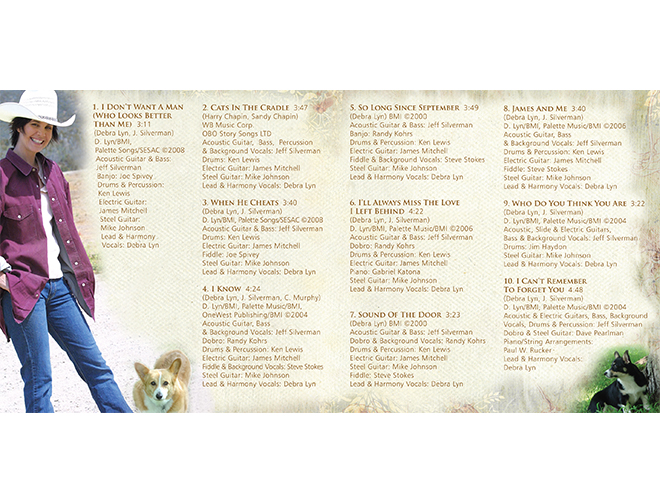 Debra Lyn - Inside Booklet